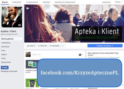 Krzyże Apteczne na Facebooku - strona Apteka i Klient